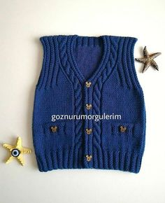 This Pin was discovered by HUZ Baby Boy Knitting Patterns, Baby Sweater Knitting Pattern, Crochet For Kids, Crochet Baby, Toddler Jerseys, Pull Bebe, Knitted Baby Clothes, Baby Cardigan, Baby Kind