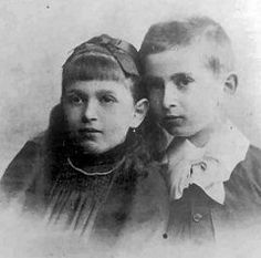 Dora (Ida Bauer)   	 at age 8, with brother Otto