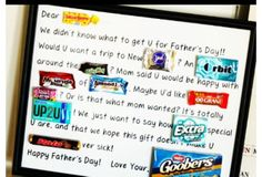 We love this Fathers Day Candy Bar Poster. A fun gift for the person how loves candy. This and more DIY Fathers Day Gift Ideas Homemade Fathers Day Gifts, Diy Father's Day Gifts, Father's Day Diy, Fathers Day Crafts, Homemade Gifts, Cute Gifts, Gifts For Dad, Kid Crafts, Grad Gifts
