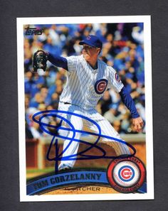 TOM GORZELANNY CHICAGO CUBS DETROIT TIGERS AUTOGRAPHED SIGNED 2011 TOPPS #76 BASEBALL CARD