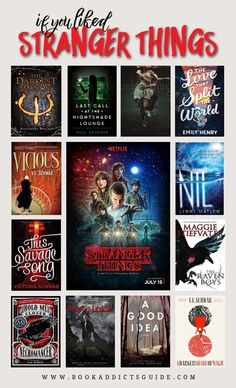 If You Liked Stranger Things is part of Book club books - 12 books to read if you like the hit TV series Stranger Things! Ya Books, I Love Books, Book Club Books, Book Lists, Good Books, Reading Lists, Sci Fi Books, Library Books, Book Suggestions