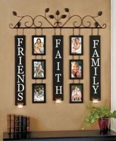 Amazon.com: Family, Friends & Faith Wall Art Photo Picture Collage Display Candle Sconce: Everything Else new headboard idea?