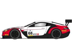 The Scalextric Aston Martin Vantage GT3 - ELMS Series 2015 is a slot car from the Scalextric Road and Rally car range.