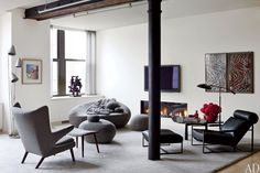 casual and cool living room