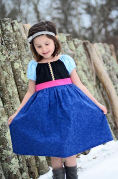 Anna Frozen Inspired Princess Play Dress by APoshPumpkin on Etsy, $35.00