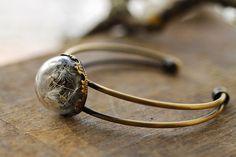 Dandelion seed bracelet dandelion wish by RubyRobinBoutique