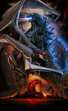 GODZILLA: 60th Anniversary Poster (Atomic Breath) by SeanSumagaysay.deviantart.com on @DeviantArt