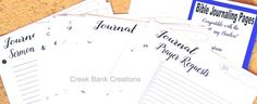 Creek Bank Journaling Pages - Click Image to Close