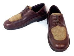 NAOT-Shoes-LEATHER-Brown-COMFORT-Lace-Up-ATHLETIC-Walking-ISRAEL-Mens-8-41
