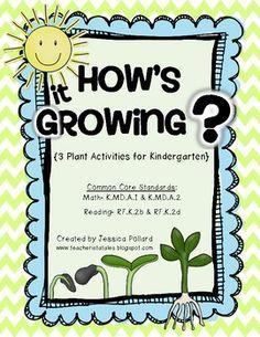 How's it Growing? {Plant Activities for Kindergarten} #TpT