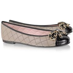 Pretty Ballerinas Quilted Leather Ballerina Shoes