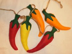 Handmade Felt Chili Pepper Garland for the by PurpleRibbonShop