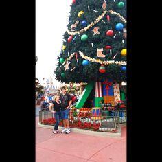 Downtown Disney with the huge Christmas Tree. #christmas 2014