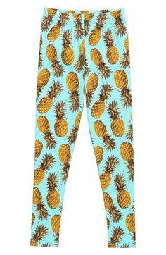 Stella Cove Pineapple Print Leggings (Big Girls) available at #Nordstrom
