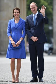 hrhduchesskate: Tour of Germany, Day 1, July 19, 2017-The Duke and Duchess of Cambridge at Brandenburg Gate