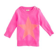 J.Crew - Collection cashmere baby sweater in star