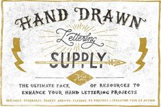 Graphic Design - Graphic Design Ideas  - Check out Hand Drawn Lettering Supply Kit by Vintage Design Co. on Creative Mark...   Graphic Design Ideas :     – Picture :     – Description  Check out Hand Drawn Lettering Supply Kit by Vintage Design Co. on Creative Market  -Read More –