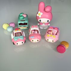 Macaron Birthday Bus and My Melody from Tomy Takara and Tomica