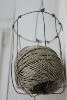 Thread in wire . . .