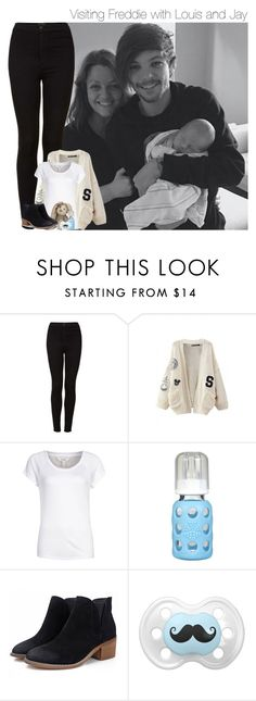 """""""Visiting Freddie with Louis and Jay"""" by mmbrambilla ❤ liked on Polyvore featuring Topshop, WithChic, mbyM and Lifefactory"""