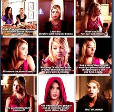 Oh Hanna. Well I love pretty little liars Famous Celebrities, Celebs, Pll Memes, Abc Family, Old Shows, Gilmore Girls, Pretty Little Liars, Best Shows Ever, Funny Moments