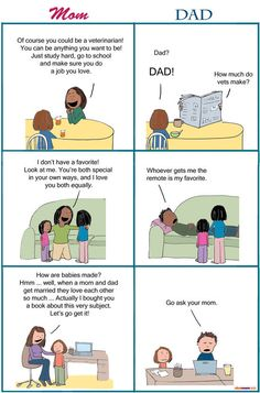 Mom's Conversation with the Kids vs. Dad's Conversation with the Kids | More LOLs & Funny Stuff for Moms | NickMom