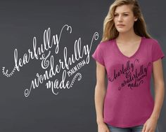 Fearfully and Wonderfully Made | Fearfully and Wonderfully Made Shirt | Psalm 139:14 | Christian T-Shirts | Christian Gifts | Korena Loves by KorenaLoves on Etsy