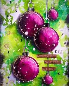 A little Christmas throwback!!... Can't believe it's been a year since I made this @ranger_ink @rangerink @dyanreaveley #art #artist #artjournal #artjournaling #artjournalpage #baubles #color #colour #dylusions #dyanreaveley #christmas #journal #journaling #layers #mixedmedia #mixedmediaart #mixedmediaartist #paint #rangerink #stencil