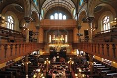 The interior sanctuary of the Eldridge Street Synagogue, a landmark on the Lower East Side,  in New York City.