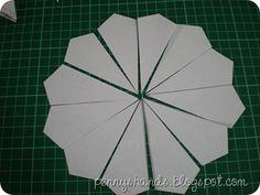 Paper pieced dresden plate