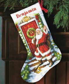 Welcome santa stocking