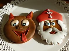 Čertík a mikulda | Perníky Winter Festival, Xmas, Christmas Ornaments, Winter Theme, Gingerbread, Sweet Tooth, Cookies, Holiday Decor, Food