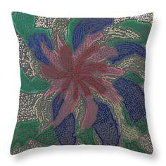 All Throw Pillows - Splatter Throw Pillow by Lovina Wright