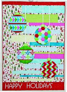 Happy Holidays quilt by Amanda Murphy Designs, featured at Sew We Quilt