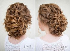 Beautiful Braids and Updos from @ashpettyhair   Curly wedding updo ...