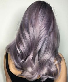 Smoky lilac is the glam-grunge hair color you should try lilac silver hair, Lavender Hair Colors, Violet Hair Colors, Hot Hair Colors, Hair Color Purple, Cool Hair Color, Light Hair Colors, Metallic Hair Color, Light Purple Hair, Purple Gray