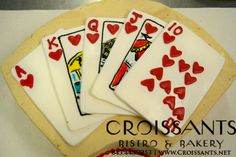 Deck of Cards Cake by Croissants Bistro & Bakery Poker Birthday