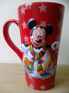 "Disney Store Mickey Mouse Collectable 3D Tea Coffee Mug 6"" Tall"