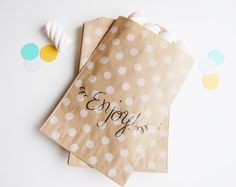 50 Favor Candy Treat Bags  Polka Dot Design by FoxandHoundPaperie, $40.00