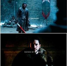 Jon Snow. A dragon raised by wolves. Game of Thrones. ASOIAF