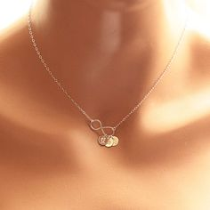 PRE-ORDER - Ships in 2-3 weeks! Personalized Infinity Necklace, Initial Necklace, Sterling Silver Infinity Necklace, Mother's Necklace