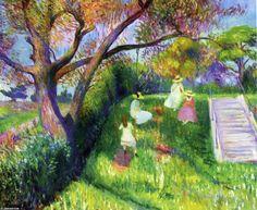 Le Swing, huile sur toile de William James Glackens (1870-1938, United States)