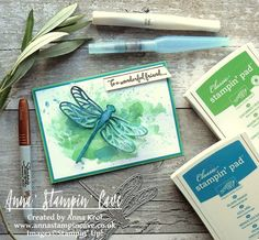 Stampin' Up! anna-stampin-cave-ink-smooshing-technique-with-dragonfly-dreams-stamp-set-detailed-dragonfly-thinlits-dies