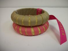 "Designer: Gameday Bangles  Size: Narrow  Color: Tan Gold & Dusty Pink   3/4""  Set of 2 bracelets  A must for every other day of the week.    Ramp up your inner Lily Pulitzer or Tracy Negoshian with a striped bangle for the ages.  Sizing: Narrow- 3/4"" Wide Both Original and Wide bangles have a 2-3/4″ internal diameter  $21"