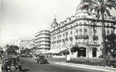 La Promenade des Anglais, L'Hôtel Ruhl et le Palais de la Méditerranée. Nice.