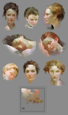 skin tone study of Pino Daeni's art by HRFleur on DeviantArt