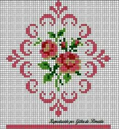 Embroidery Roses This Pin was discovered by fer Cross Stitch Kitchen, Cross Stitch Love, Cross Stitch Borders, Cross Stitch Flowers, Cross Stitch Charts, Cross Stitching, Cross Stitch Embroidery, Hand Embroidery, Funny Cross Stitch Patterns
