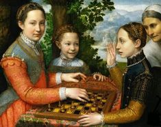 The Chess Game by artist Sofonisba Anguissola |1555| Museum Narodowe, Poznan, Poland.