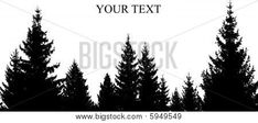 Pix For > Pine Tree Forest Silhouette