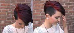 undercut hair. Like the color.